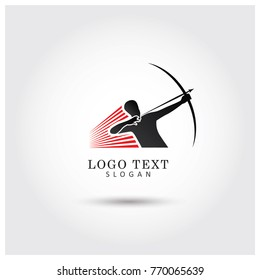 Archer Logo Vector Icon template