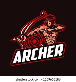 Archer mascot logo template