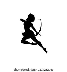 Archer queen silhouette vector