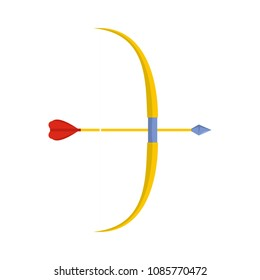Archery ammunition icon. Flat illustration of archery ammunition vector icon for web