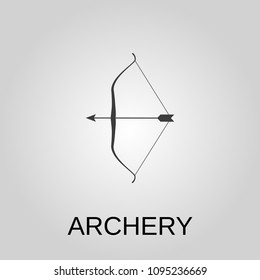 Archery icon. Archery symbol. Flat design. Stock - Vector illustration