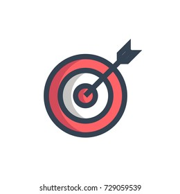 archery icon vector. archery filled outline style design