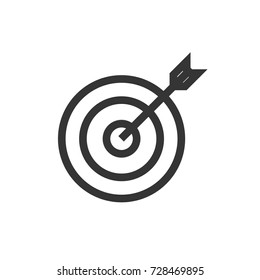 archery icon vector. archery outline style design