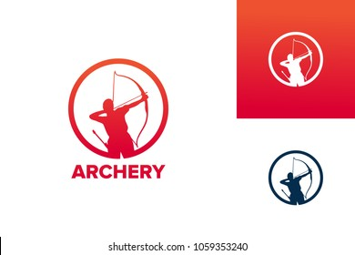 Archery Logo Template Design Vector, Emblem, Design Concept, Creative Symbol, Icon