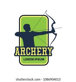 archery logo with text space for your slogan / tag line, vector illustration