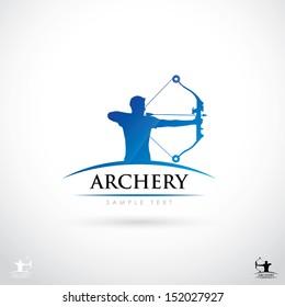 Archery sign - vector illustration