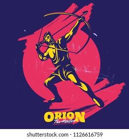 Archery Silhouette Mascot Logo Template
