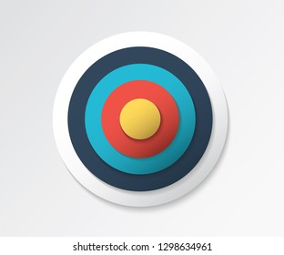 Archery target graphic