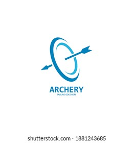 Archery target logo vector icon illustration design