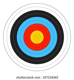 Archery Target. Vector.