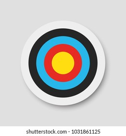 Archery target. Vector illustration