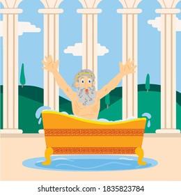 Archimedes in the bathroom the scientist screams Eureka