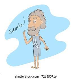 Archimedes eureka cute sketch