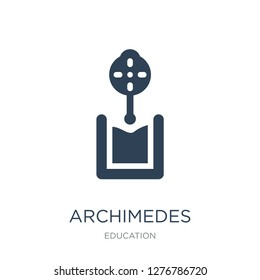 archimedes principle icon vector on white background, archimedes principle trendy filled icons from Education collection, archimedes principle vector illustration