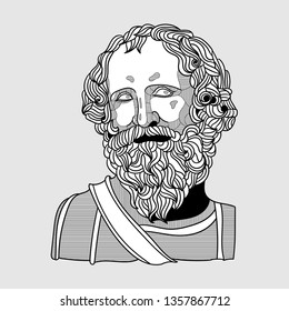 Archimedes. Vector illustration hand drawn.