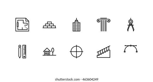 Architect Icons Line