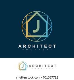architect initial Letter J Logo design