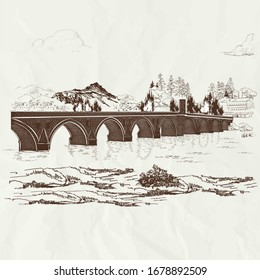 Architect Sinan's signature in Bosnia and Herzegovina: Drina Bridge