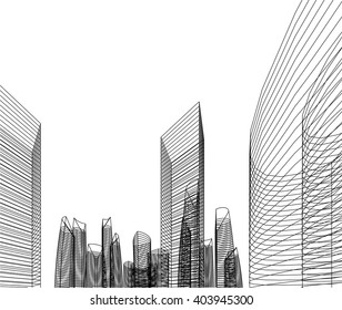 architectural background. 3d Buildings