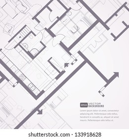 Architectural background. Eps10 vector illustration