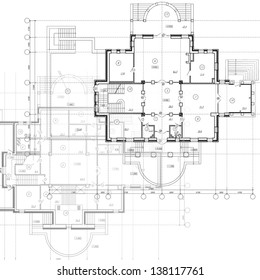 Awesome Construction Engineering. Architectural Background. Part Of Architectural  Project, Architectural Plan, Technical Project, Drawing Technical