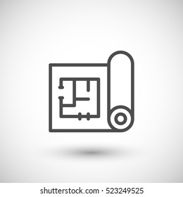 Architectural blueprint icon