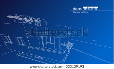 modern architecture blueprints old hand drawn architectural blueprint of the residence house as modern architectural design blueprint residence house modern stock