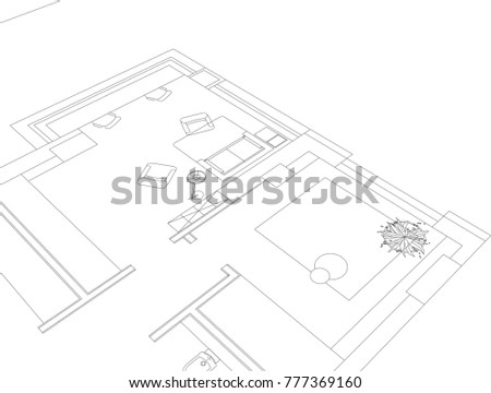 Architectural Building Drawings Stock Vector Royalty Free