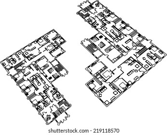 architectural building plan vector background