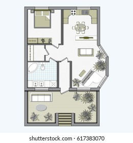Rendered Floorplan Images Stock Photos Vectors Shutterstock