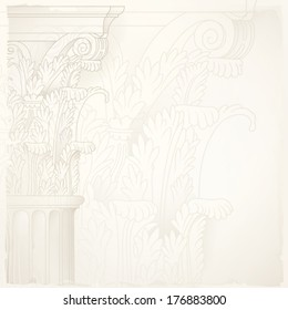 architectural design background,corinthian column