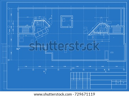 Architectural design engineering equipment floor plan stock vector the architectural design of the engineering equipment floor plan blueprint vector malvernweather Images