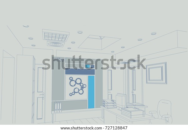 Architectural Design Office Interior Tablescomputers Jobs