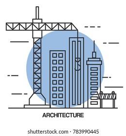 architectural design set icons