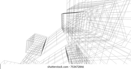 architectural drawing 3d
