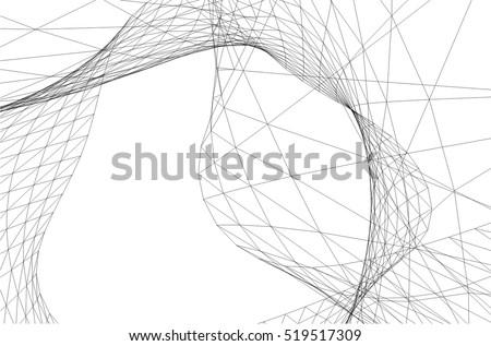 architectural drawing futuristic background のベクター画像素材