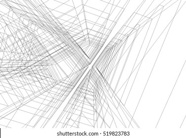 Architectural drawing. Geometric background