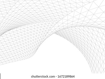 Architectural drawing. Geometric background 3d