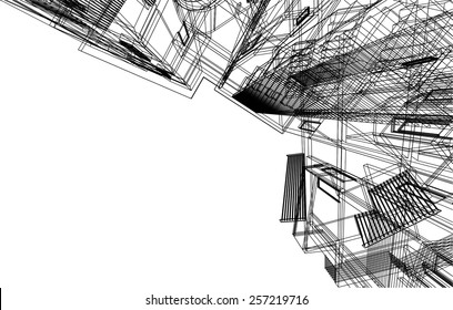 Architectural drawing. House building