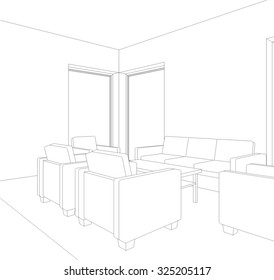 Architectural drawing. House design