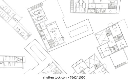 Architecture Plan Draw Drawing Instruments Stock Photo Edit Now