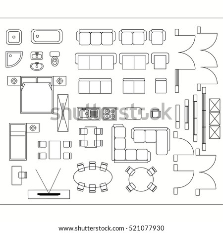 drawing furniture plans. Architectural Drawing For Planning Construction And Home Improvement.  Symbols Used Furniture Architecture Plans Icons M