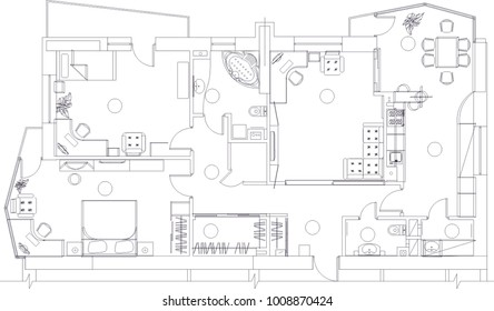 architectural drawing vector