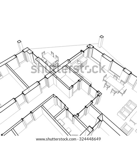 Architectural Drawings Stock Vector Royalty Free 324448649