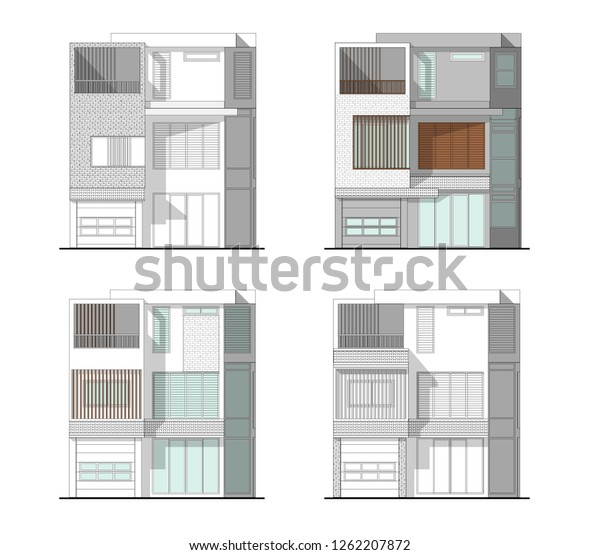 Architectural Drawings Modern 3 Storys House | Buildings ...