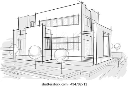 Architectural drawings. Sketches