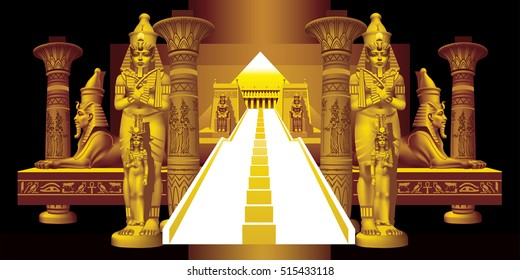 Architectural Fantasy in the Egyptian style