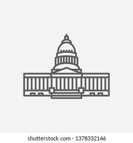 Architectural icon line symbol. Isolated vector illustration of  icon sign concept for your web site mobile app logo UI design.