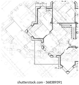Architectural plan ready to use for background