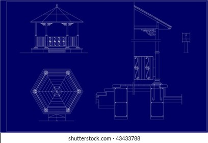 Autocad Section Drawing Images, Stock Photos & Vectors
